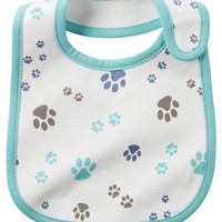 Paw Print Teething Bib