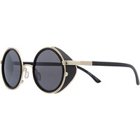 Black Jeepers Peepers round sunglasses