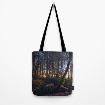Wooded Tofino Tote Bag by Mixed Imagery