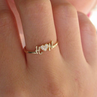 Custom Name Ring - Perfect Gift - Engagement Gift - Handcrafted Jewelry