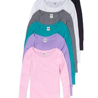 Long-sleeve Thermal Tee - PINK - Victoria's Secret