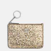 Key Pouch in Glitter Fabric