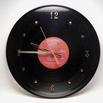 DEAD KENNEDYS Vinyl Record Wall Clock In God We Trust, Inc. by recordsandstuff