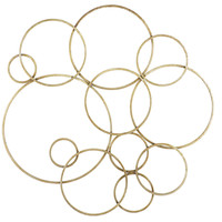 Gold Circles Wall Decor