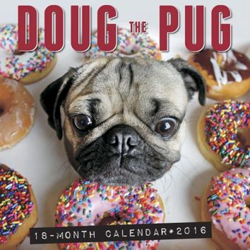 Doug the Pug Wall Calendar - Walmart.com