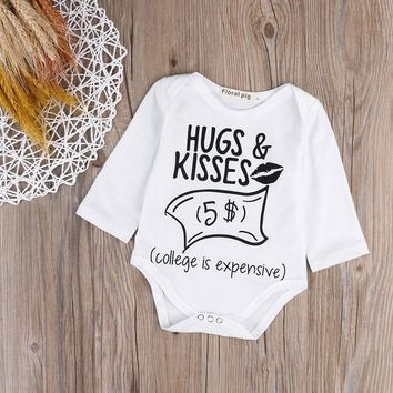 """Hugs & Kisses $5"" Onesuit"