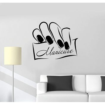 Vinyl Wall Decal Manicure Salon Nails Beauty Center Interior Decor Stickers Mural (ig5800)