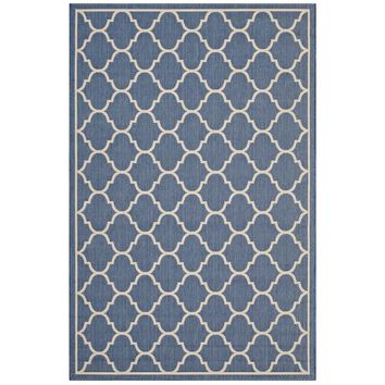 Avena Moroccan Quatrefoil Trellis 8x10 Indoor and Outdoor Area Rug
