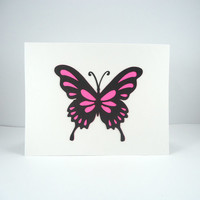 Butterfly Note Cards set, Blank Note Cards, plain note cards, All Occasion cards, multi-color, simple note cards, monarch, set of 4