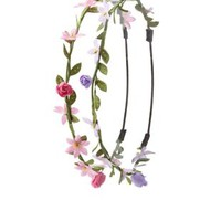 Multi Mini Flower Crowns - 2 Pack by Charlotte Russe