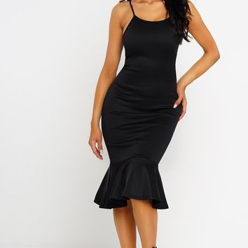 Vilma Mermaid Dress - Black