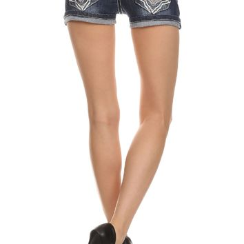 Denim Dark Wash Shorts