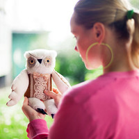Francois owl , soft  art toy by  Wassupbrothers.