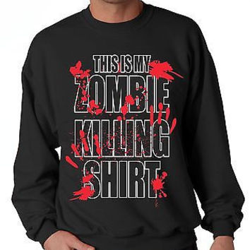 This Is My Zombie Killing Shirt  Men's Sweatshirt