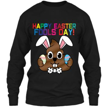 Happy Easter Fools Day Poop Emoji T-Shirt for Easter Gift LS Ultra Cotton Tshirt