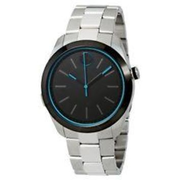 Men's Movado Bold Motion 3660003 Swiss Quartz Black Dial Stainless Steel Watch