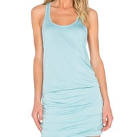 Scoop Neck Shirred Racerback Dress in Serene