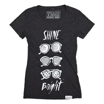 Shine Bright Charcoal Women's T-Shirt