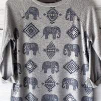 Elephant Pattern Sweater