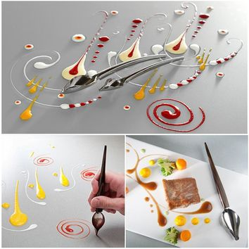 Stainless Steel Pencil Spoons Pizza Chocolate Cake Decorating Tools Kitchen Accessories For Baking Confectionery Pastry Tools