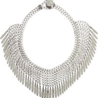 SAINT LAURENT - Plumes fringe collar necklace | Selfridges.com