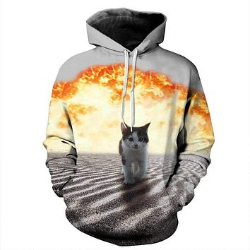 New Fashion Women/Men Hoodies 3D Printed Long Sleeve Sweatshirt With Large Pocket Casual Loose Couples Pullovers Jacket Macchar Cosplay Catalogue