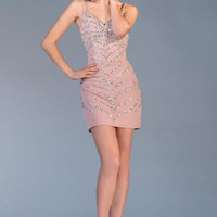 PRIMA C1322 Pink Champagne Cocktail Dress