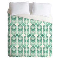 Heather Dutton De Lux Mint Duvet Cover