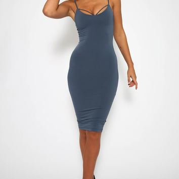 Nookie - Mi Amore Backless Shift Dress - Charcoal