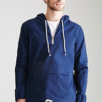 Hooded Cotton Canvas Anorak