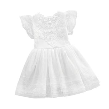 Girl Princess Lace Party Tutu Slip Dress