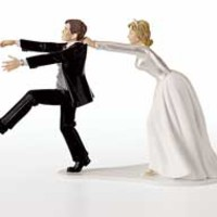 Oh No You Don't Wedding Cake Topper