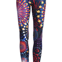 "ROMWE | ""Colorful Firework"" Leggings, The Latest Street Fashion"
