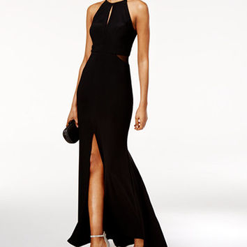 Xscape Cutout Halter Gown - Juniors Prom Dresses - Macy's