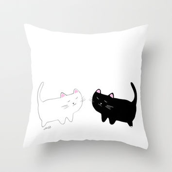 Throw Pillow Warehouse : cats Throw Pillow by memories warehouse from Society6