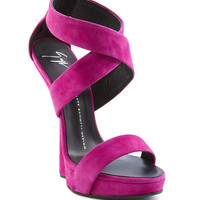 Some of you have to get in on this: Guiseppe Zanotti Suede Heel-Less Sandal
