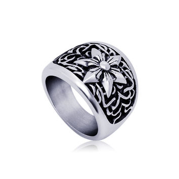 New Arrival Jewelry Shiny Gift Vintage Stylish Titanium Club Accessory Ring [6544885187]