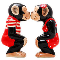 Red Chimpanzee Shaker Set | Salt and Pepper Shakers | RetroPlanet.com