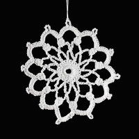 Crocheted Snowflakes Ornaments Group 8  Set of 6 Handmade Decoration