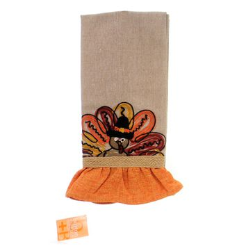 Thanksgiving Turkey Tea Towel Linens