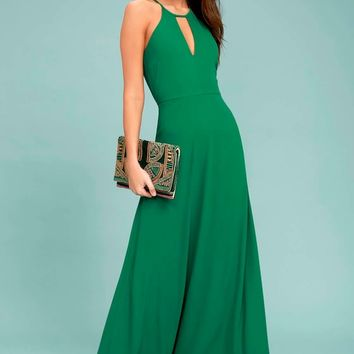 Beauty and Grace Green Maxi Dress