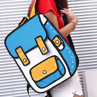 2D Cartoon Vintage Inspired Backpack