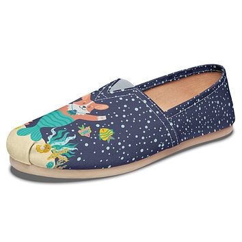 Mermaid Corgi Casual Shoes