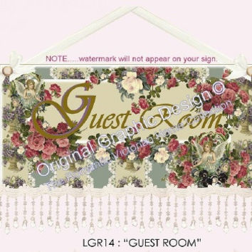 Guest Room 16 x 10  Wall Hanging