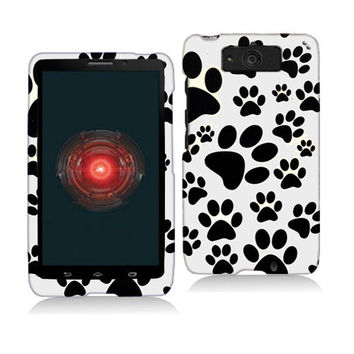 Dog Paw Hard Rubberized Design Case Cover for Motorola Droid Mini XT1030