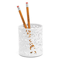 Realspace™ Brocade Pencil Cup, White Item # 709134