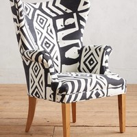 WHIT Geo-Printed Wingback Chair