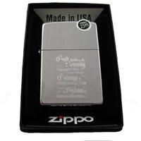 Zippo 250MP-SERENITY Classic Life Changing Serenity Prayer High Polish Chrome Windproof Lighter