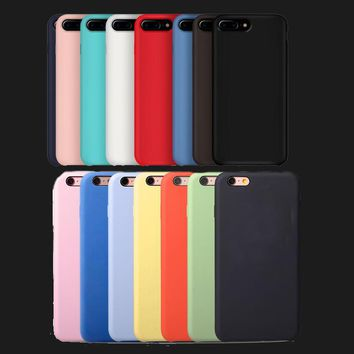 Have LOGO Official Silicone Case For Apple iphone X Cover For Apple iphone 8 plus  6 6s 7 plus Cover phone Back  Original cases