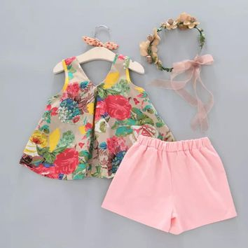 PRE-ORDER - GIRLS FLORAL SHORT SET - CLOSES 04/05